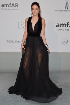 Barbara Palvin attends amfAR's 21st Cinema Against AIDS Gala, Presented By WORLDVIEW, BOLD FILMS, And BVLGARI at the 67th Annual Cannes Film Festival on May 22, 2014 in Cap d'Antibes, France.