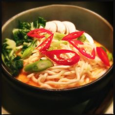 Spicy laksa noodle soup for dinner tonight #food #foodie #foodporn #foodpic#foodgasm #foodshare #foodstagram #foodoftheday#chef#cheflife#chefsofinstagram #chefsoninstagram #chefstagram #ilovetocook#ilovecooking#goodfood #greatfood#gastronomia #gastronomy #plating #theartofplating #truecooks#instagramfood#instafood#instachef by my_kitchen_table