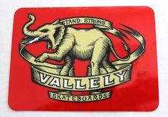 Mike Vallely skateboard sticker - elephant logo