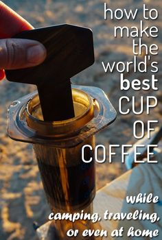 Wish you could make great coffee while camping, road tripping, or travelling? This is the best camping coffee maker I've ever used and what I recommend. Backpacking Food, Camping Meals, Camping Hacks, Camping Drinks, Truck Camping, Camping Trailers, Camping Recipes, Family Camping, Tent Camping