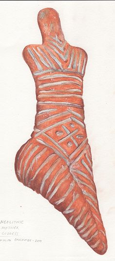 #NeolithicMotherGoddess #FertilityFigure painted by #NikitaCoulombe