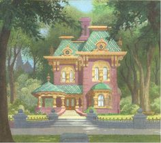 """""""The Lady and the Tramp"""" background art"""