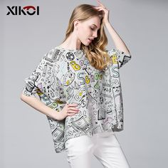 New Autumn Casual Women Sweater Tops Batwing Sleeve Print $38.92 => Save up to 60% and Free Shipping => Order Now! #fashion #woman #shop #diy www.clothesworld....