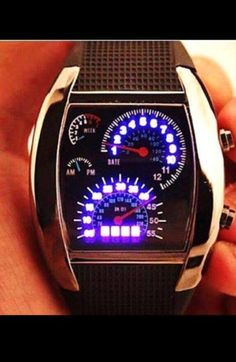 A watch that looks like the speedometer is a car.. How cool!