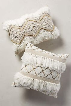Moroccan Wedding Pillow - anthropologie.com - calm, neutral but with interest. I like the idea of a neutral nursery with lots of texture