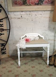 Painted Cottage Chic Shabby White Romantic by paintedcottages, $95.00