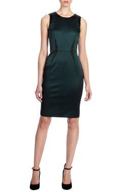 Minimal signature satin shift dress | Luxury Women's dresses | Karen Millen