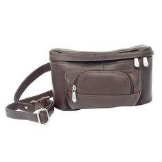 Piel Leather Carry-All Waist Bag - Chocolate - 9903-CHC