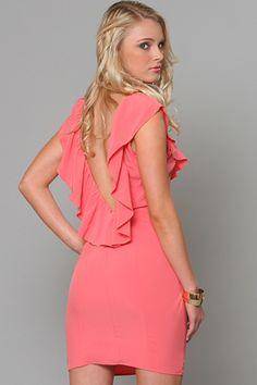 Ruffle Coral Dress