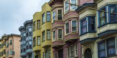 Colorful San Francisco homes