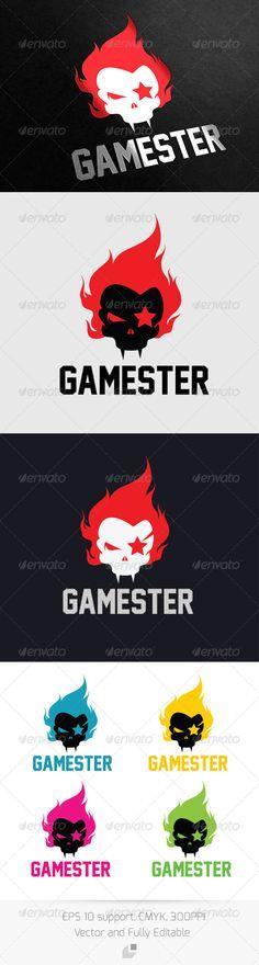Gamester Logo — Vector EPS #car #games • Available here → https://graphicriver.net/item/gamester-logo/3305099?ref=pxcr