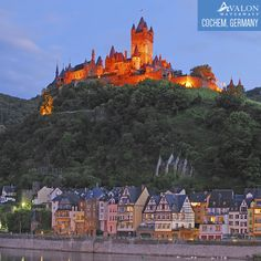 Explore Cochem, Germany, which sits below  the beautiful Reichsburg Castle built in 1,000 AD. And enjoy some Riesling while you're there!