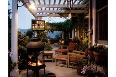 An outdoor TV can add a lot to your backyard or patio entertaining. But don't try to use a regular TV outside. Weatherproof outdoor TVs can live outside year round.