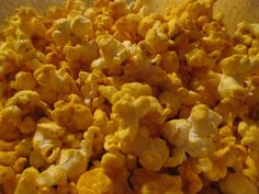 Alton Brown's triple cheese popcorn, the perfect snack for Christmas movie watching