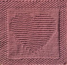 Free knitting pattern for a heart dishcloth, washcloth, afghan square or blanket square. Includes written pattern instructions and chart.