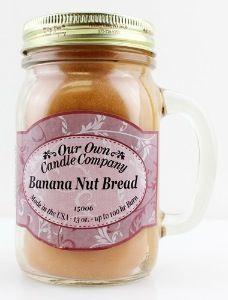 "Mason jar OUR OWN CANDLE COMPANY ""BANANA NUTBREAD"""