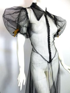 30s mesh vintage gown