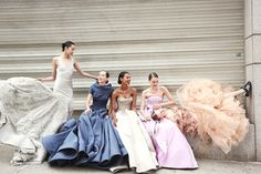 Hanne Gaby Odiele, Grace Mahary, Tilda Lindstam, Alana Zimmer and Xiao Wen Ju preparing for the Met Gala 2014 Ball Dresses, Ball Gowns, Tilda Lindstam, Fashion Foto, Style Fashion, Fashion Beauty, Vogue, Glamour, Models