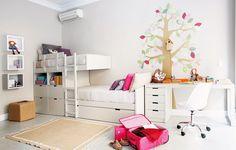 Дизайн детской комнаты для двух девочек одного и разных возрастов