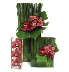 Grasses and leaves are cheap, cheap, cheap. You can make these yourself and save a bundle! #floral