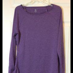 Gaiam Workout Shirt NWOT Purple long sleeve shirt. Gaiam Tops Tees - Long Sleeve
