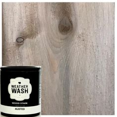 Weatherwash Pined is a water-based aging wash that turns different species different weathered wood colors. Apply to raw wood to easily achieve the look of reclaimed or barn wood. Achieves a light weathered Stain On Pine, Oak Stain, Weathered Wood Stain, Diy Wood Stain, Stripping Stained Wood, Whitewash Stained Wood, Easy Painting Projects, Diy Projects, Pallet Projects