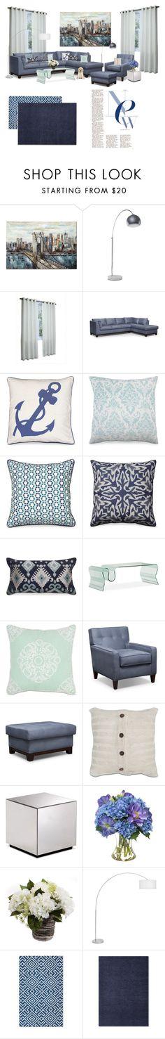 The New Blue by amsigfurniture on Polyvore featuring interior, interiors, interior design, home, home decor, interior decorating, Diane James, livingroom, Blue and Home