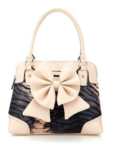 Lipsy Bow Leopard Bag I Want This