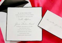 Square Black Deckle Wedding Invitation