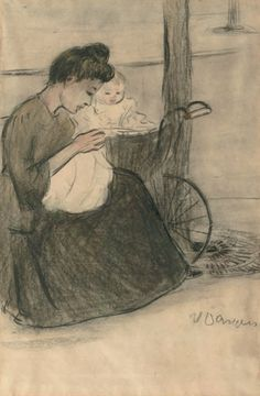 IN THE PARK Cornelis Theodorus Maria van Dongen (aka Kees van Dongen or Van Dongen 1877~1968)
