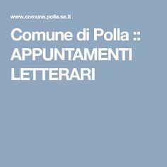 Comune di Polla :: APPUNTAMENTI LETTERARI
