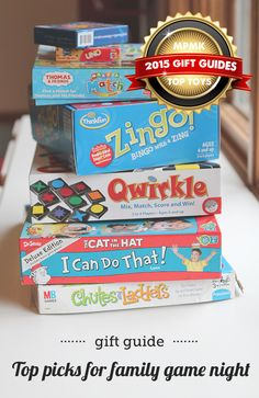 Gift guide: family game night - great picks for kids of all ages and there are recommended ages for each of the picks, which is super helpful.