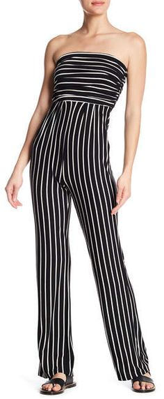 Pink Owl Striped Tube Top Jumpsuit #shopping #fashion #style #deals