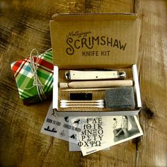 DIY Scrimshaw Knife Kit!  Birthdays and Christmas ~ GREAT IDEA HE CAN MAKE IT HIS OWN!