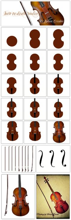 how to draw a violin   by sanae errabie #violinkids