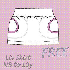 LIV skirt sizes NB to 9/10 EN | Sofilantjes Patterns FREE PATTERN
