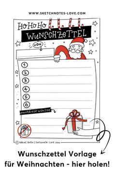 Du suchst einen schönen Wunschzettel für die Kinder oder auch für dich selber? Dann lade dir jetzt meine kostenlose Wunschliste für Weihnachten runter und fülle sie gleich aus. Weihnachten, Wunschzettel, Wunschliste, Wunschzettel Weihnachten, Wunschzettel Kinder, Wunschzettel Ideen, Wunschzettel Weihnachten Vorlage, Weihnachtsliste, Weihnachtsliste Kinder, Weihnachtsliste to do, Wünsche Weihnachten, Wünsche Weihnachten Kinder, Weihnachten Dekoration, Weihnachten basteln Visual Thinking, Workshop, Sketch Notes, Simple Doodles, Lettering, Bullet Journal Inspiration, Illustration, Digital, Books