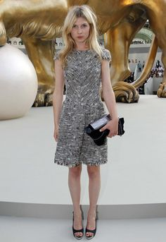 Clemence Poesy Inside the Chanel Haute Couture F/W 2011 Runway Show on July 6, 2010 www.theadventuresofapinkchampagnebubble.com