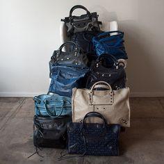 Pile of Balenciaga bags