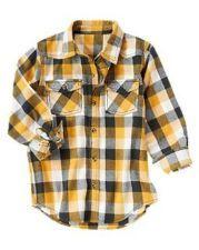 NEW NWT Boys GYMBOREE CRAZY 8 Plaid Flannel Shirt size XS 4 S 5/6 M7 L 10/12