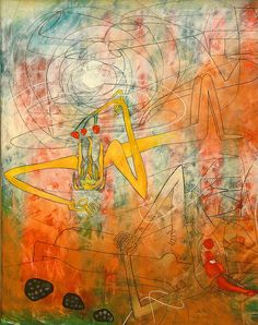 Roberto Matta - Xpace and the ego  Maybe my favorite painter EVER!  (Sorry Francis)