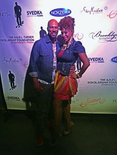 Maimouna Youssef and Common in Brooklyn