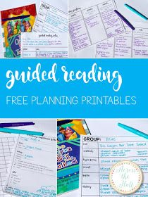 Free printables to make planning guided reading and small group lessons a breeze!