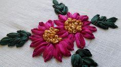 Hand Embroidery Tutorials | Ribbon Stitches | HandiWorks #32