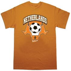 Netherlands Soccer Orange T-Shirt, Size: XL