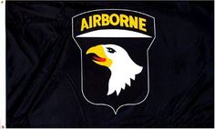 "101st Airborne ""Black"" MILITARY Flag - 3 foot by 5 foot Polyester (NEW) . $1.71. Pole Hem & Fringe. Indoor Lt. Weight. 101St Airborne Flag 3X5 Foot light-weight polyester fabric with Pole Hem and Fringe for indoor flagpole use.Imported"
