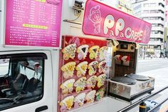 Crepe truck in Japan. I want to try Japanese crepes!!