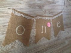 Perfect touch for your little ones big day! Hang it on your mantle, over the cake or on a highchair tray. Lots of possibilities! Each burlap pendant