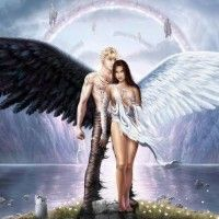 Angel Demon Wallpaper ID: Demon Angel Wallpapers Wallpapers) Fantasy Angel, Foto Fantasy, Fantasy Kunst, Dark Fantasy, Fantasy Art, Angel Warrior, Angel And Devil, Angel Pictures, Angel Images