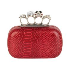 Skull & Jeweled Clutch ($40) ❤ liked on Polyvore